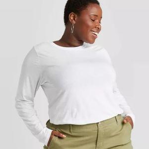 Women's Plus Size Long Sleeve T-shirt 1X